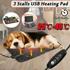 1xPet Dog Electric Pad Blanket Heat Heated Heating Mat Dog Cat Bed Cushion Warm