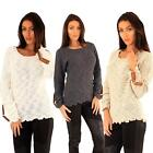 Long Sleeve Women Jumpers Cardigans New Ladies Chunky Acrylic Yarn Knitwear Top