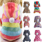 HOT Pet Dog Flannel Jumpsuit Cat Puppy Winter Warm Soft Sweater Pajamas Clothes