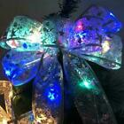 Christmas LED Tree Top Topper Ribbon Bow Light Up Bow HOT Decoration D2T8