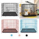 Folded Animal Pet Dog Cage Heavy Duty Strong Metal Wire Crate Kennel Playpen