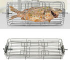 Stainless Steel Roaster BBQ Rotisserie Oven Rotary Cage Shrimp Meat Vegetables photo