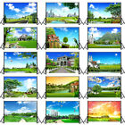 Green Garden City Photo Background Cloth Studio Photography Backdrop 5x3ft 7x5ft
