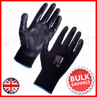 Work Gloves Nitrile Coated Palm Nylon Builders Safety Construction Nitrotouch