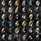 Tungsten Ring  Gold Black Silver Blue Green CZ Mens Wedding Band ATOP Jewelry