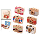 Cartoon Camera Style Baby Teeth Box Wooden Baby Teeth Hair Save Box for Kids