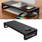 Metal Laptop PC Monitor Stand with Wireless Charger Computer Riser Sturdy