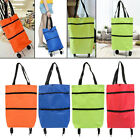 Collapsible Shopping Pull Cart Trolley Bag Shopping Bags Food Organizer