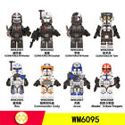 8 pcs Minifigures Star Wars Rex Fox Wolfpack StormTrooper  Weapons New Toys