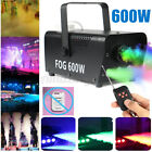 600W 220V Portable Smoke Fog Machine RGB LED Stage Light With Remote Controller