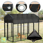 Outdoor Pet Cage Cover Wind Screen Dog Kennel 80 Sun Shade Crate Protecto