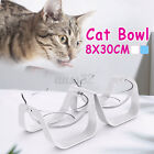 Double Elevated Pet Bowl Cat Dog Feeder Food Water Raised Lifted Stand Bowls