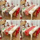 Christmas Embroidered Tablecloth Santa Claus Floral Placemat Decor Dinner G0o0