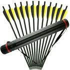 """12Pcs 20"""" Carbon Arrows 8.8mm Crossbow Bolts For Crossbow Hunting Archery Quiver"""