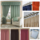 """Tessa Pencil Pleat Rose Unlined Curtains (pair Of) - 90x90"""" Buy One Get One Free"""