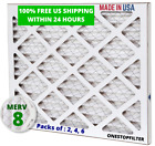 16x20x2 Air Filter, Pleated HVAC AC Furnace, MERV 8, Pack of 2 ,4 or 6