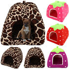 Pet Dog Cat House Cave Fleece Padded Bedding Puppy Warm Bed Igloo Washable Cave*