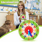 Clock Toy Creative Cultivate Time Concept Wood Teaching Children Toy Ornament