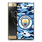 OFFICIAL MANCHESTER CITY MAN CITY FC BADGE CAMOU BLACK GEL CASE FOR SONY PHONES