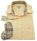 $275 BURBERRY London Orange Peach Casual Dress Mens Shirt NEW COLLECTION