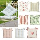 Set+of+2+Cotton+Garden+Seat+Pads+With+Ties+Summer+Alfresco+Dining