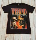 NEW- THE WEEKND- ORANGE LETTERS T-SHIRT