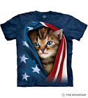 The Mountain  Adult Mens Graphic T shirt Unisex  Patriotic Kitten