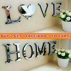 Mirror Wall Sticker Love/home Letters Diy Art Room Decor Acrylic Adhesive Decal