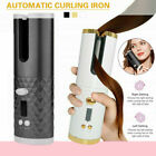 Auto Rotating Hair Curler Cordless Waver Curling Iron Salon Styling LCD Display.