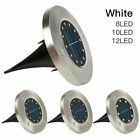 8PCS LED Solar Power Ground Lights Floor Decking Lawn Path Lamp Outdoor Garden