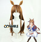 Anime Game Pretty Derby Grass Wonder Cosplay Prop Hair Wig Cos Sa ZY