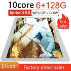 10.1'' WIFI/4G HD PC Tablet Android 8.0 HD Pad 6 128GB 2 SIM GPS Dual Camera