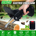 """4"""" 850W One-Hand Saw Electric Chain Saw Wood Cutter Cordless Kit For Woodworking"""