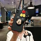 Cute Cartoon Happy Mouse Soft Case Cover for Nokia Foldable Stand & Doll Strap