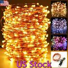 US 1-4Pack 5-20M LED Copper Wire String Light Fairy Home Outdoor Christmas Decor