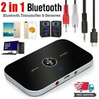 2IN1 Bluetooth 5.0 Receiver Transmitter Wireless RCA to 3.5mm Aux Audio Adapter