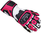 Cortech Apex RR Women's Gauntlet Leather Motorcycle Glove WHITE PINK