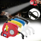 4.5M Durable Dog Leash Retractable Nylon Lead Extending Walking Leads With Light