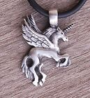 Medieval fairy tale Pegasus Unicorn Flying Winged Fantasy Horse Pewter Pendant