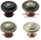 Knob Handles for Cabinet Doors 34mm Traditional Style Pewter, Nickel or Brass