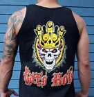 Rat's Hole King of Customs crowned skull & wings tank