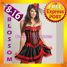 8068 Burlesque Spanish Can Can Corset 8 10 12 14