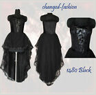 Long Dress Gothic Punk Halloween Black Dress Sexy1480