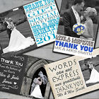 Personalised Photo Wedding Thank You Cards Free Envelopes