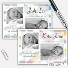 Personalised BABY Girl Boy Birth Announcement Thank You Cards flat or folded
