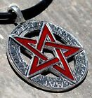 YHWH Tetragrammaton Pagan Wicca Inverted Pentacle Pentagram Star Pewter Pendant