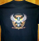 "New Black T Shirt "" HELMETED SKULL BIKER ""  Sz Sm - 5XL"
