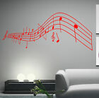 HUGE MUSICAL NOTES DECAL ,WALL ART XXL N17