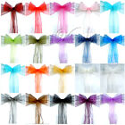 100PCS Organza Chair Sashes Bows Wedding Party New