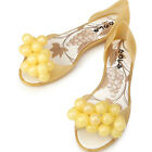 Super Pretty Grapes Gold Jelly Womens Flats Shoes